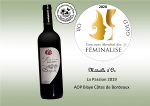 Médaille Feminalise - La Passion 2019