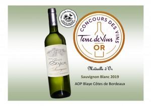 Médaille Terre de Vin - Sauvignon 2019