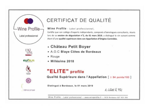 capture certificat de qualité début mars 2019